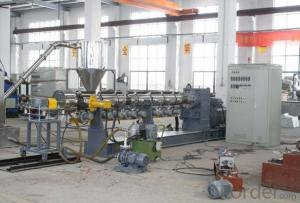 single screw extruding granulating line for PET flakes
