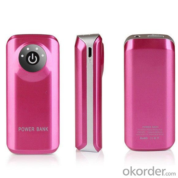 power bank 5600mah with led flash light