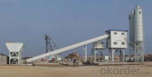 FANGYUAN Lifting Hopper Concrete Mixing Plant HZS35