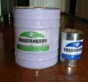 Epoxy resin grouting material