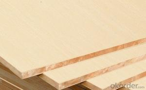 Oak Real Wood Veneer Face block Board Falcata Core