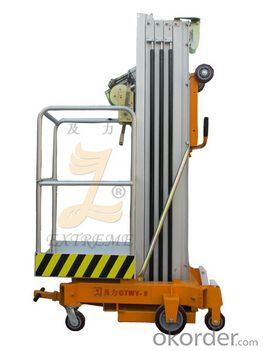 Manual aerial working platform
