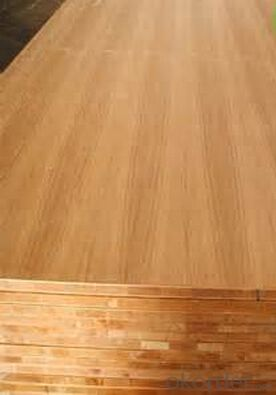 Teak  Real Wood Veneer  Face block Board Falcata Core