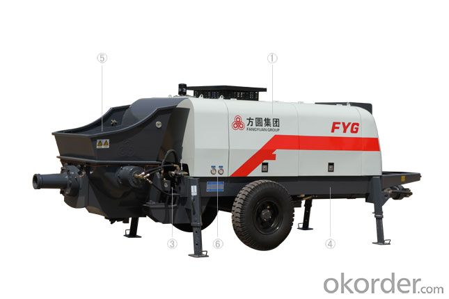 FANGYUAN Motor Driven Concrete Trailer Pump HBTS60-16-110
