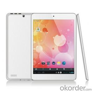 Android 7.85 inch MTK8382 Quad-Core 3G Tablet PC with BT and GPS (DM-MT7839)