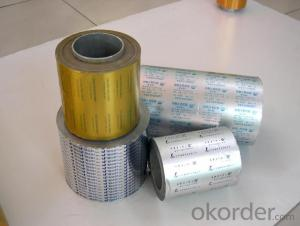Supply pharmaceutical aluminum foil