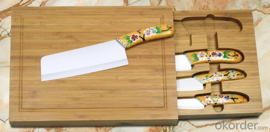 simple ceramic knife set