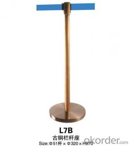 L7B Noodle Bronze  Stanchion Tubular Steel Railing