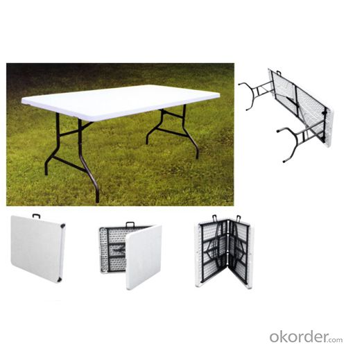 FT6 blow molding rectangular folding table