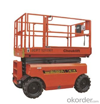 Self-Propelled Rough-Terrain Scissor Lift Material Hoist Lift Table JCPT