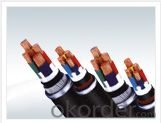 Low smoke and non-halogen flame retardant cross-linked polyethylene insulated power cable