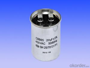 round single coil air conditional capacitors
