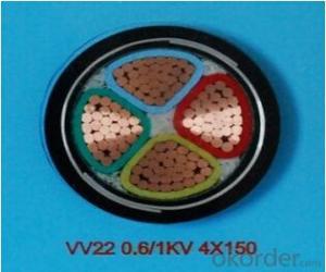 ZHONGMEI PVC insulated power cable VV22 0.6/1KV 4X150