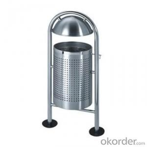 H950 sand steel outdoor trash