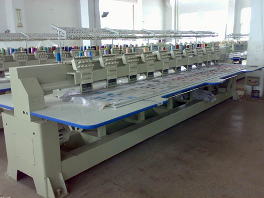COMPUTERIZED FLAT EMBROIDERY MACHINE - MORE THAN 22 HEAD