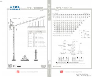 YONGMAO STL1000C tower crane