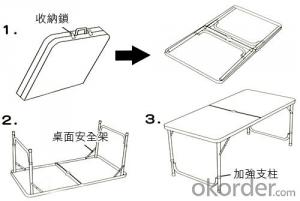 Aluminum folding table beach table camping table outdoor furning