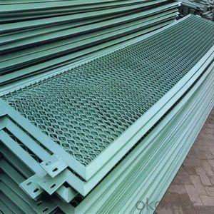 PVC Coated Expanded Metal Fence