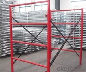 Safe SGS frame scaffolding, frame scaffolding system, scaffolding frame