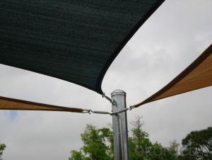 Shade Sail  3x3m dark green color