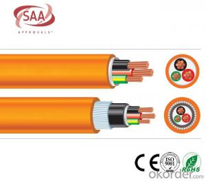 Circular Cables PVC 600/1000V 2C+E SWA Copper Orange cable as per  AS/NZS 5000.1