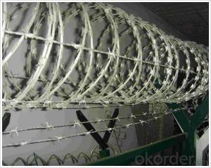 Galvanized Razor Barbed Wire With Electro Dipped Galvanized Wire