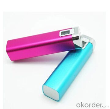 hot selling 2600mah power bank with LCD screen