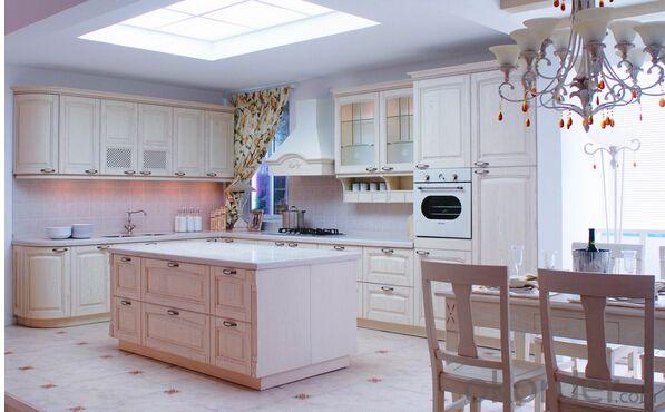 White PVC Kitchen Cabinets ZB002