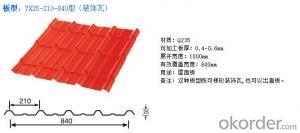 Colorful Galvanized Corrugated Pressed steel plate NO. 820