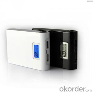 Hot selling 10400mah power bank with LED screen and flashlight