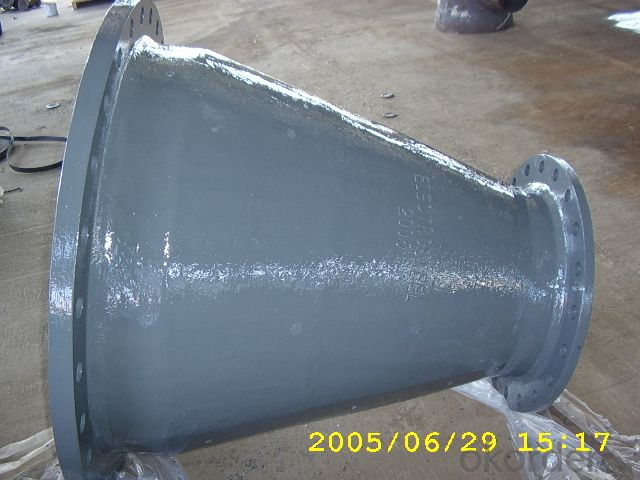 ductile iron double flanged reducer