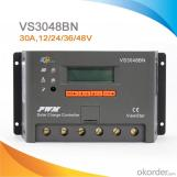 Controlador / Regulador de carga para sistema solar PWM con pantalla LCD 30A/12/24/36/48V, VS3048BN