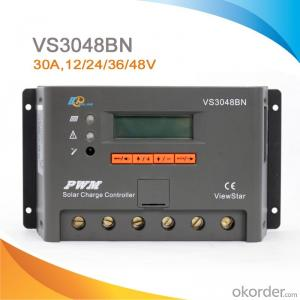 LCD Display PWM Solar System Charge Controller /Regulator 30A 12/24/36/48V,VS3048BN