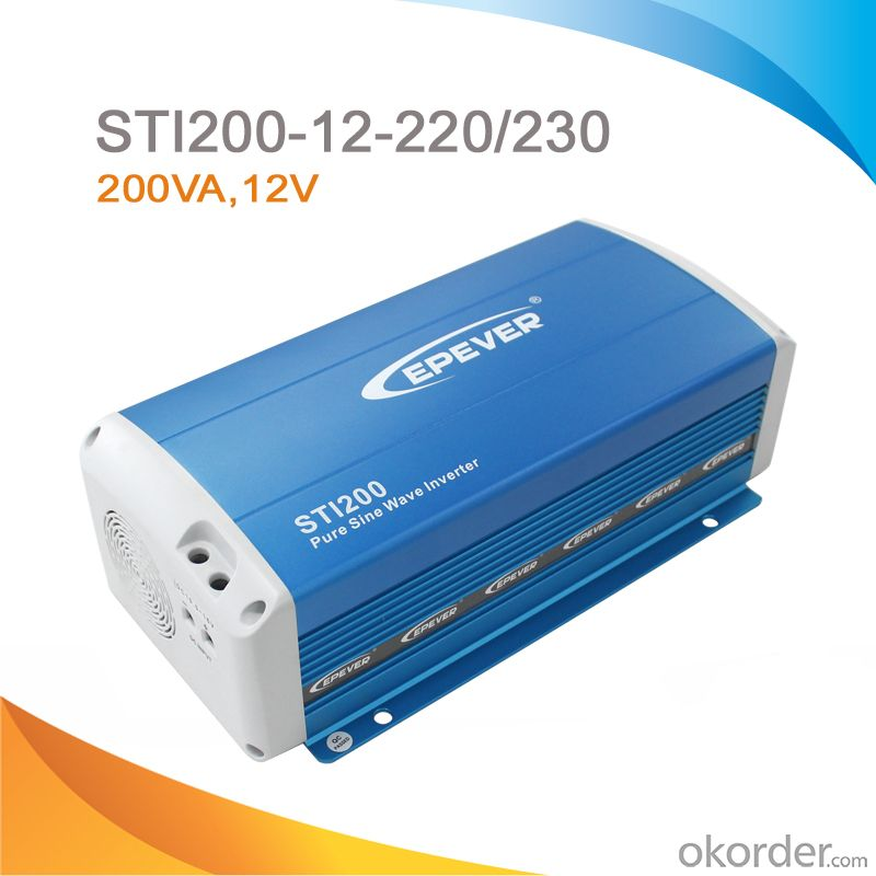 Off-Grid Pure Sine Wave Solar Inverter 200W, DC 12V to AC 220/230V,STI200