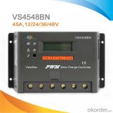 Controlador / Regulador de carga solar PWM con pantalla LCD 45A/12/24/36/48V, VS4548BN