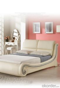 soft PU bed leather bed frame