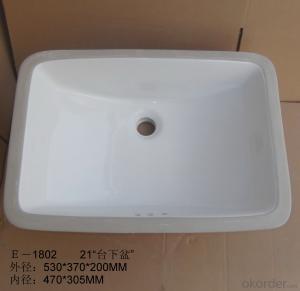 The new 21-inch white square undercounter basin