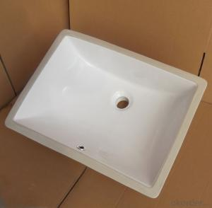 square white ceramic basin audience 20-inch
