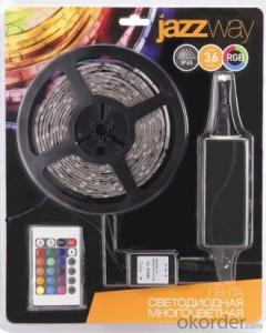 CE ROHS UL SAA Certificate Blister Package DC12V/24V 5050 RGB Led strip Kit with Controller and Adapter