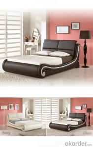 leather pu bed slat bed frame white pu beds