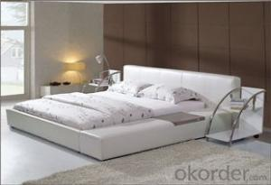 Modern bedroom furniture soft PU bed leather bed frame