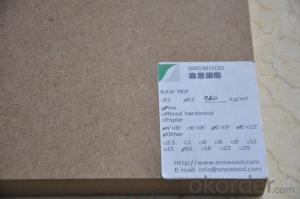 Medium Density Fibre Board Plain MDF 1830*2440*3mm