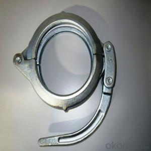 casting /forged DN125 concrete pump pipe clamp-snap coupling