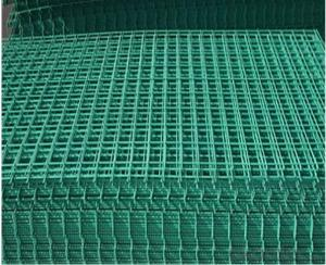 Green PVC Coated Wire Mesh Panel