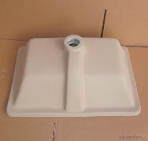 square white ceramic basin audience 21-inch