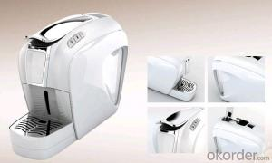 One touch on/off electrical button Capsule Coffee Machine