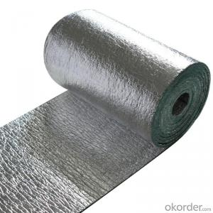 Aluminum faced foam thermal insulation