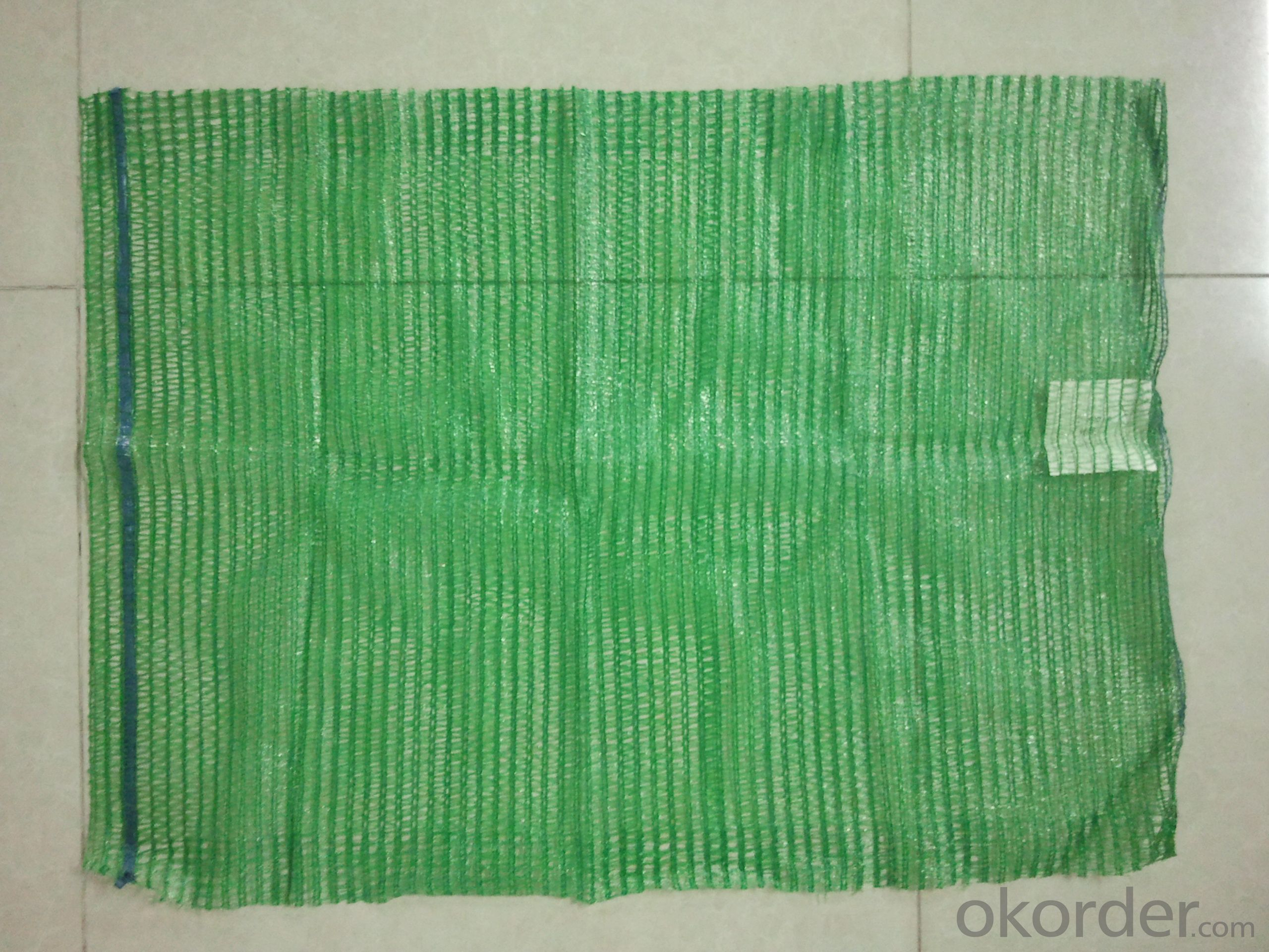 PP leno mesh bag for cabbage China, green colour