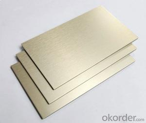 Aluminum composite panel / light matel look