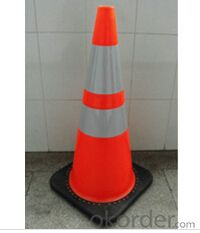 PVC Orange Traffic Safety Cone with black base , PVC CONE, NEW, flexible, safety